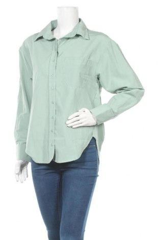 Дамска риза Trendyol, Размер M, Цвят Зелен, 65% памук, 35% полиестер, Цена 33,80лв.