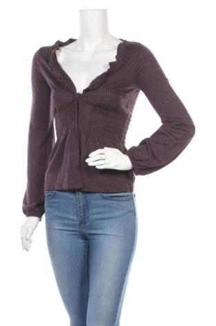 Дамска жилетка Vero Moda, Размер XS, Цвят Лилав, 85% акрил, 15% вълна, Цена 20,16лв.