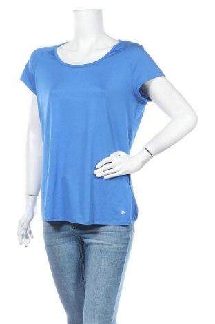 Дамска спортна блуза Active By Tchibo, Размер M, Цвят Син, 92% полиестер, 8% еластан, Цена 5,36лв.