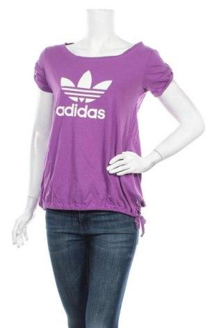 Дамска спортна блуза Adidas Originals, Размер M, Цвят Лилав, Памук, Цена 24,99лв.