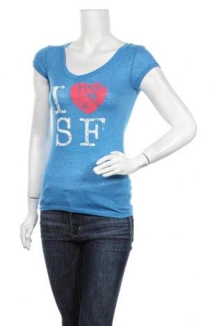 Дамска тениска Active Basic USA, Размер S, Цвят Син, 60% памук, 40% полиестер, Цена 16,80лв.