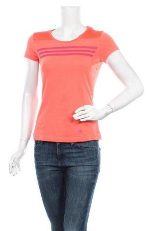 Γυναικείο t-shirt Adidas, Μέγεθος XXS, Χρώμα Ρόζ , Τιμή 13,51€