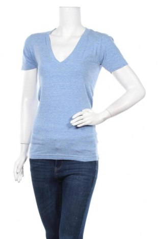 Дамска тениска American Apparel, Размер XS, Цвят Син, 50% полиестер, 25% памук, 25% вискоза, Цена 16,96лв.