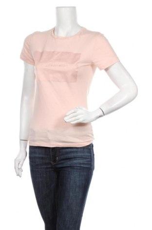Γυναικείο t-shirt Calvin Klein Jeans, Μέγεθος XS, Χρώμα Ρόζ , Τιμή 20,98€