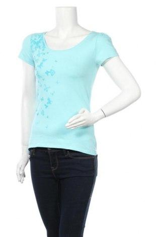 Tricou de femei Edc By Esprit, Mărime XS, Culoare Albastru, 95% bumbac, 5% elastan, Preț 56,84 Lei