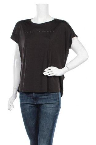 Дамска тениска Ergee, Размер XL, Цвят Черен, Полиестер, еластан, Цена 11,34лв.