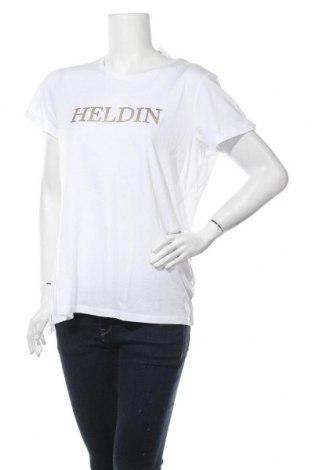 Дамска тениска Herrlicher, Размер L, Цвят Бял, 50% памук, 50% модал, Цена 55,30лв.