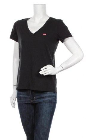 Дамска тениска Levi's, Размер S, Цвят Черен, Памук, Цена 25,37лв.