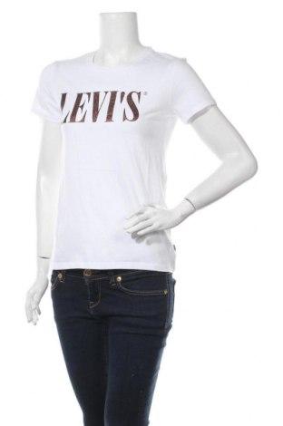 Дамска тениска Levi's, Размер XS, Цвят Бял, Памук, Цена 43,07лв.