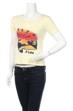 Дамска тениска Lois, Размер M, Цвят Жълт, Памук, Цена 28,52лв.