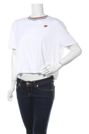 Дамска тениска New Look, Размер L, Цвят Бял, Памук, Цена 11,18лв.