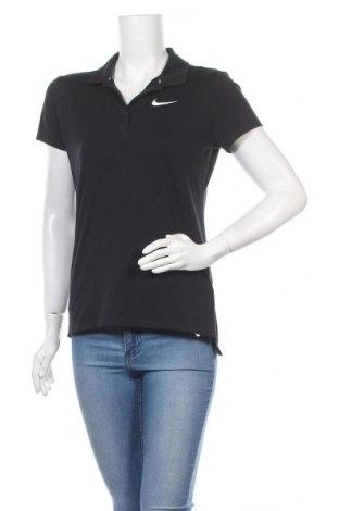 Γυναικείο t-shirt Nike, Μέγεθος M, Χρώμα Μαύρο, 88% πολυεστέρας, 12% ελαστάνη, Τιμή 14,84€