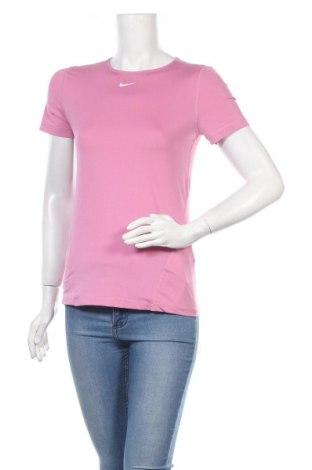 Γυναικείο t-shirt Nike, Μέγεθος S, Χρώμα Ρόζ , 92% πολυεστέρας, 8% ελαστάνη, Τιμή 14,84€