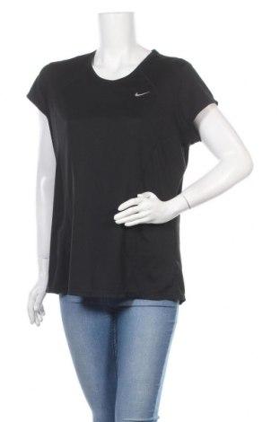 Γυναικείο t-shirt Nike, Μέγεθος XL, Χρώμα Μαύρο, Πολυεστέρας, Τιμή 12,99€