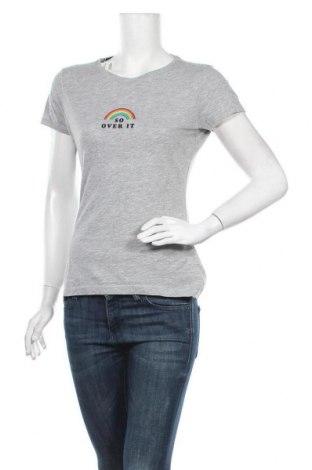 Дамска тениска Primark, Размер M, Цвят Сив, 90% памук, 10% вискоза, Цена 13,97лв.