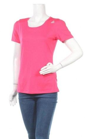 Дамска тениска Reebok, Размер XL, Цвят Розов, 92% полиестер, 8% еластан, Цена 16,80лв.