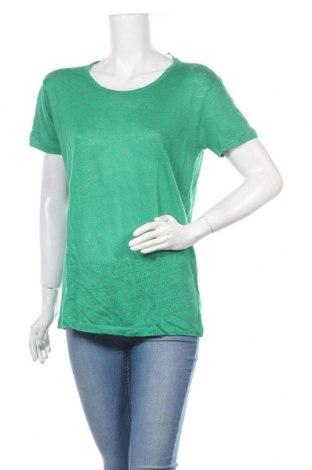 Γυναικείο t-shirt Zara Trafaluc, Μέγεθος L, Χρώμα Πράσινο, Λινό, Τιμή 15,77€