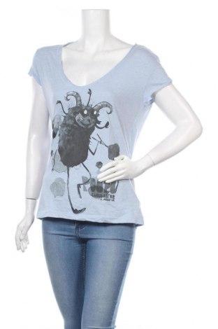 Γυναικείο t-shirt Zara Trafaluc, Μέγεθος M, Χρώμα Μπλέ, 50% πολυεστέρας, 50% βαμβάκι, Τιμή 12,06€