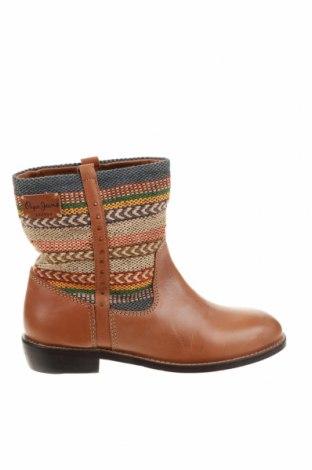 Дамски боти Pepe Jeans, Размер 36, Цвят Кафяв, Естествена кожа, текстил, Цена 289,00лв.