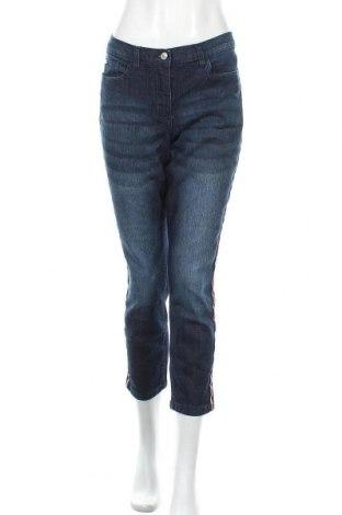 Dámské džíny  Bpc Bonprix Collection, Velikost M, Barva Modrá, 82% bavlna, 17% polyester, 1% elastan, Cena  414,00Kč