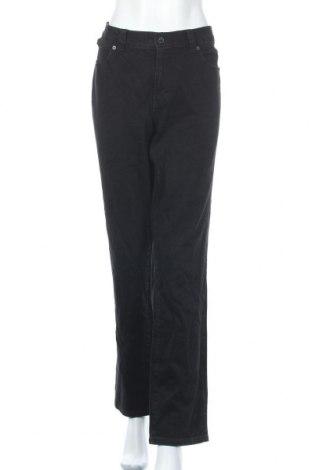 Дамски дънки Calvin Klein Jeans, Размер XXL, Цвят Черен, 99% памук, 1% еластан, Цена 22,05лв.