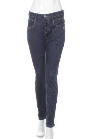 Дамски дънки Gang, Размер L, Цвят Син, 89% памук, 9% полиестер, 2% еластан, Цена 28,62лв.