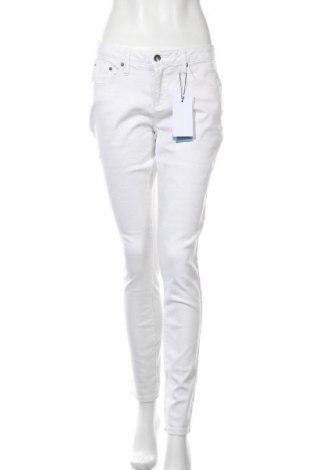Дамски дънки H.i.s, Размер L, Цвят Бял, 55% памук, 21% полиестер, 14% лиосел, 9% вискоза, 1% еластан, Цена 40,60лв.