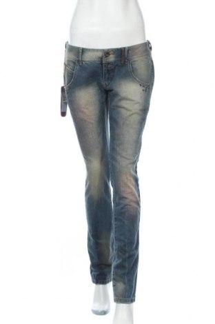 Дамски дънки Kenvelo, Размер L, Цвят Син, Цена 35,91лв.