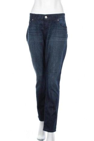 Дамски дънки So, Размер XXL, Цвят Син, 78% памук, 21% полиестер, 1% еластан, Цена 28,30лв.
