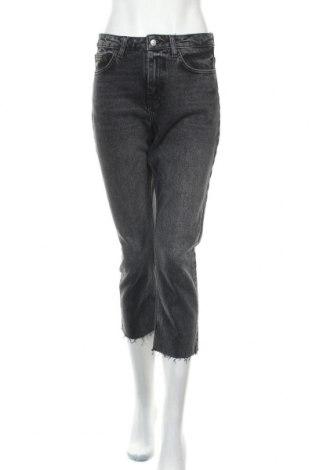 Дамски дънки Topshop, Размер M, Цвят Сив, 99% памук, 1% еластан, Цена 25,94лв.