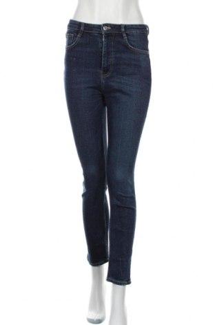 Dámské džíny  Zara, Velikost S, Barva Modrá, 95% bavlna, 4% polyester, 1% elastan, Cena  526,00Kč