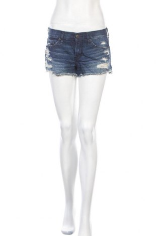 Дамски къс панталон Abercrombie & Fitch, Размер S, Цвят Син, Памук, Цена 35,91лв.