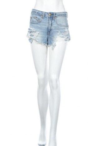 Дамски къс панталон American Eagle, Размер XS, Цвят Син, Памук, Цена 17,96лв.