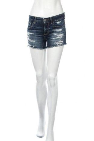 Дамски къс панталон American Eagle, Размер XS, Цвят Син, 60% памук, 21% вискоза, 17% полиестер, 2% еластан, Цена 18,90лв.