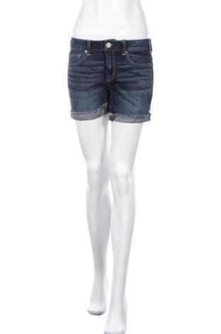 Дамски къс панталон American Eagle, Размер S, Цвят Син, 100% памук, Цена 22,05лв.