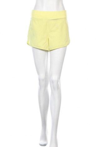 Дамски къс панталон Athletic Works, Размер M, Цвят Жълт, 88% полиестер, 12% еластан, Цена 16,80лв.