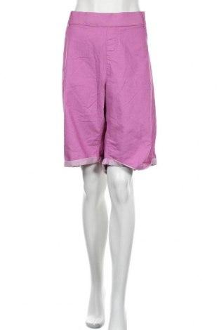 Γυναικείο κοντό παντελόνι Avella, Μέγεθος 3XL, Χρώμα Βιολετί, Βαμβάκι, πολυεστέρας, ελαστάνη, Τιμή 13,64€