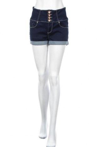 Дамски къс панталон Cool Cat, Размер L, Цвят Син, 67% памук, 31% полиестер, 2% еластан, Цена 18,90лв.