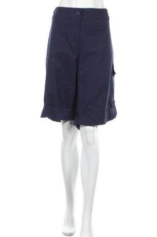 Дамски къс панталон Ellos, Размер XXL, Цвят Син, 98% памук, 2% еластан, Цена 24,15лв.