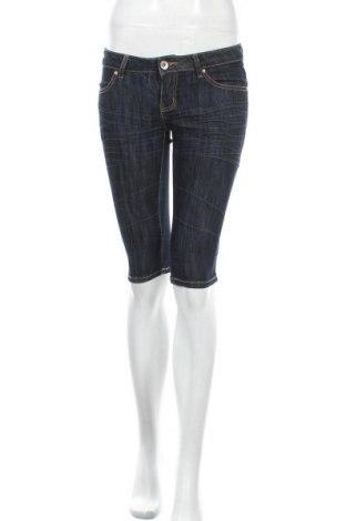 Дамски къс панталон Girl Vivi, Размер S, Цвят Син, 75% памук, 23% полиестер, 2% еластан, Цена 18,90лв.