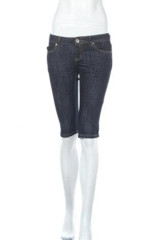 Дамски къс панталон Girl Vivi, Размер S, Цвят Син, 75% памук, 23% полиестер, 2% еластан, Цена 17,85лв.