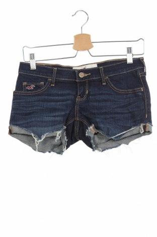 Γυναικείο κοντό παντελόνι Hollister, Μέγεθος XS, Χρώμα Μπλέ, 99% βαμβάκι, 1% ελαστάνη, Τιμή 5,52€
