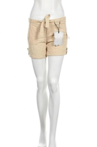 Дамски къс панталон Hot Kiss, Размер S, Цвят Бежов, 55% лен, 45% вискоза, Цена 29,40лв.