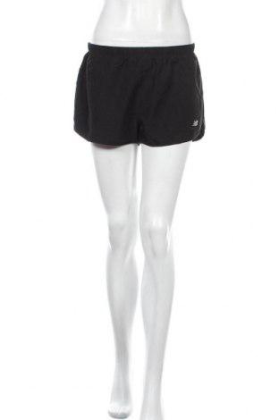 Дамски къс панталон New Balance, Размер M, Цвят Черен, Цена 19,69лв.