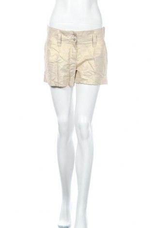 Дамски къс панталон Pimkie, Размер L, Цвят Златист, 56% лен, 44% памук, Цена 4,46лв.
