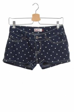 Дамски къс панталон So, Размер S, Цвят Син, 80% памук, 20% полиестер, Цена 8,93лв.