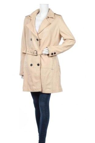 Дамски кожен шлифер Maze, Размер XXL, Цвят Бежов, Естествена кожа, Цена 412,30лв.