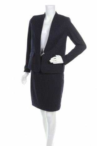 Dámský kostým   H&M, Velikost S, Barva Modrá, 55% vlna, 38% polyester, 7% jiné tkaniva , Cena  769,00Kč