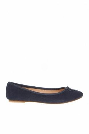 Дамски обувки, Размер 38, Цвят Син, Естествен велур, Цена 89,25лв.