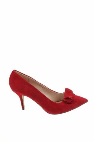 Дамски обувки, Размер 41, Цвят Червен, Текстил, Цена 26,78лв.